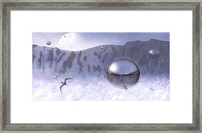 Colonisation Of Alien World Framed Print by Mark Garlick