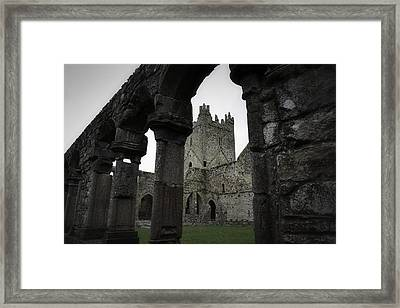 Colonnade And Tower Of Jerpoint Abbey Framed Print