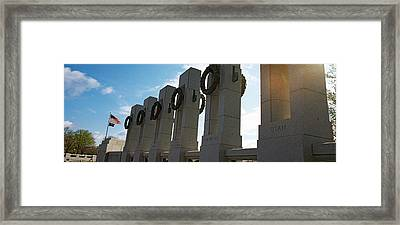 Colonnade In A War Memorial, National Framed Print by Panoramic Images