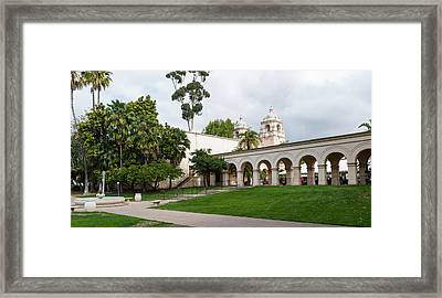 Colonnade In Balboa Park, San Diego Framed Print
