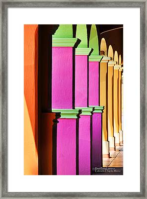 Colorful Colonnade - Lake Chapala - Mexico - Travel Photography By David Perry Lawrence Framed Print by David Perry Lawrence