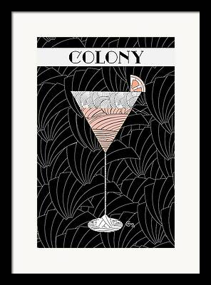 Stylized Beverage Drawings Framed Prints