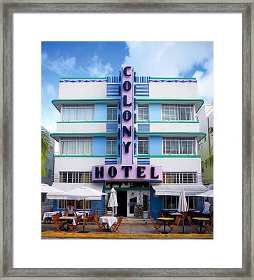 Colony Hotel Daytime Framed Print