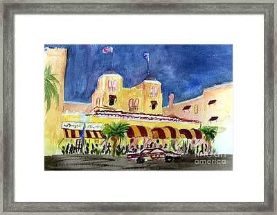 Colony Hotel In Delray Beach Framed Print