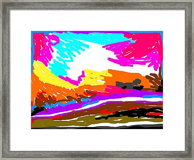 Color Abstract-6 Framed Print by Anand Swaroop Manchiraju