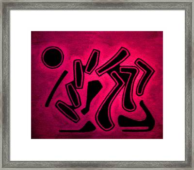 Color Abstraction 1 Framed Print by Dr Joseph Uphoff
