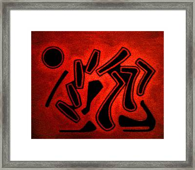 Color Abstraction 2 Framed Print by Dr Joseph Uphoff