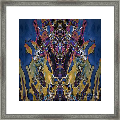Color Abstraction Xxi Framed Print by David Gordon