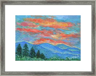 Color Blast Framed Print by Kendall Kessler