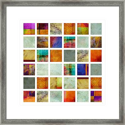 Color Block Collage Abstract Art Framed Print by Ann Powell