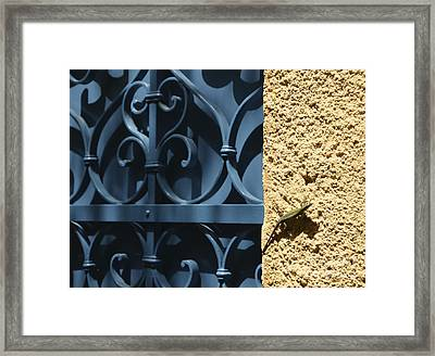 Color Block Framed Print by Corinne Rhode