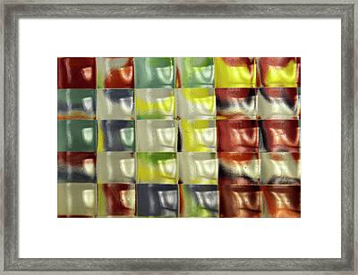 Framed Print featuring the photograph Color Blocks by Geraldine Alexander