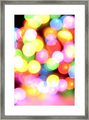 Color Blurs Framed Print by Les Cunliffe
