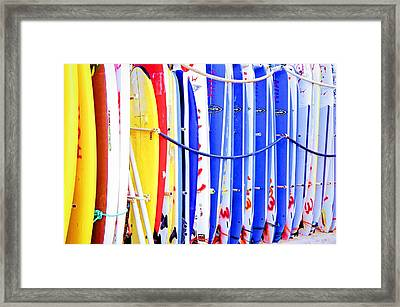 Color Boards Framed Print