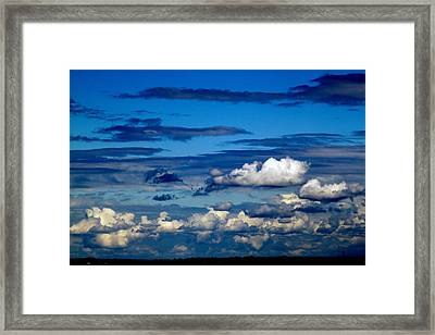 Color Burned Clouds Framed Print