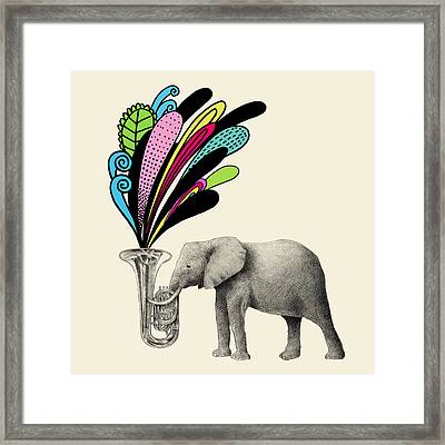 Color Burst Framed Print