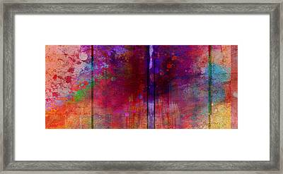 Color Burst Two Abstract Art  Framed Print by Ann Powell