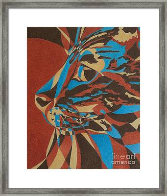 Framed Print featuring the painting Color Cat II by Pamela Clements