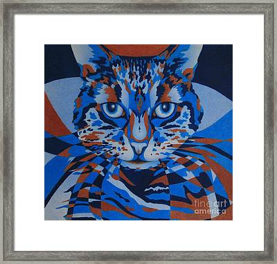 Framed Print featuring the painting Color Cat IIi by Pamela Clements