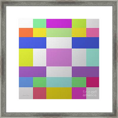 Color Chex By Andee Design Framed Print