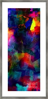 Color Clouded Sunburst Framed Print by Stephanie Ward