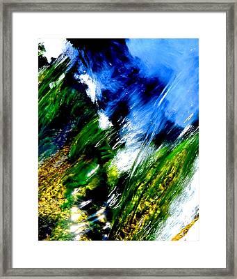 Color Collision Framed Print
