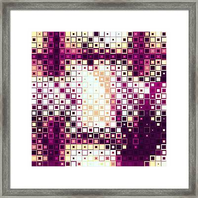 Color Cubed Framed Print by Shawna Rowe