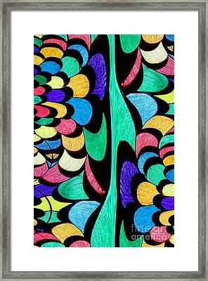 Framed Print featuring the digital art Color Dance by Rafael Salazar