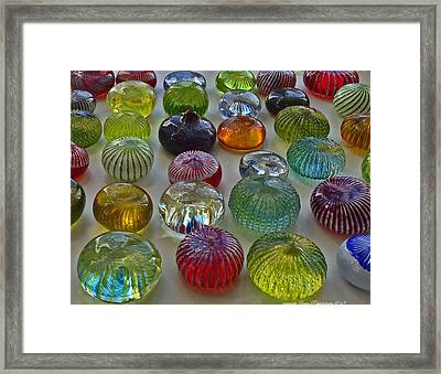 Framed Print featuring the photograph Color Dots by Leena Pekkalainen