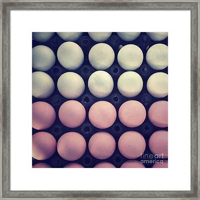 Color Eggs Framed Print