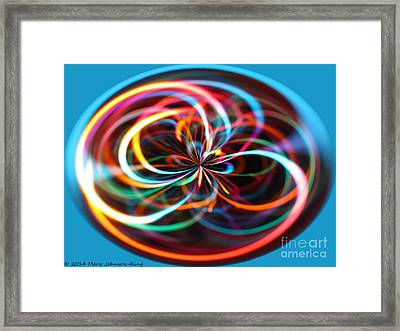 Color Elipse Framed Print by Mary  King