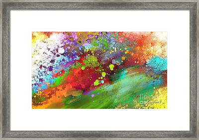 Color Explosion Abstract Art Framed Print by Ann Powell