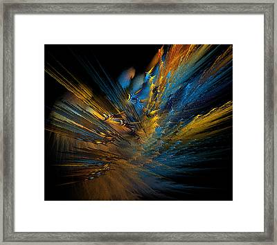 Color Explosion Framed Print by Camille Lopez