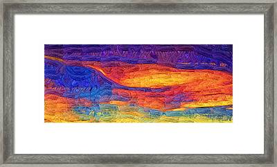 Framed Print featuring the digital art Color Explosion by Kirt Tisdale
