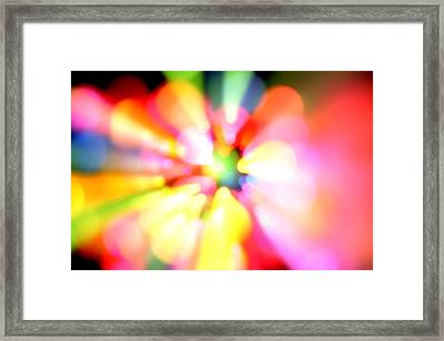 Color Explosion Framed Print by Les Cunliffe