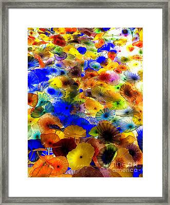 Framed Print featuring the photograph Glass Palette  by Irina Hays