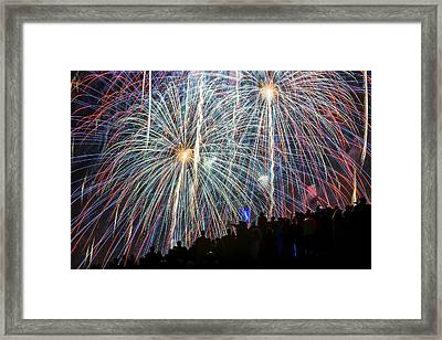 Color Fire July 4th Framed Print