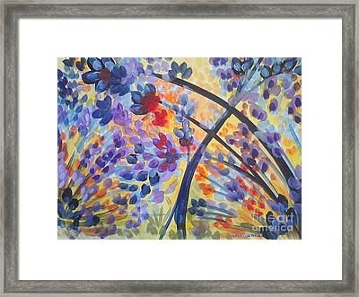 Color Flurry Framed Print by Holly Carmichael