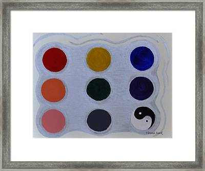 Color From The Series The Elements And Principles Of Art Framed Print