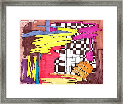 Color Fun IIi Framed Print by Teddy Campagna