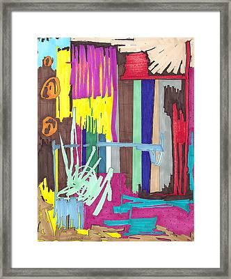 Color Fun Iv Framed Print by Teddy Campagna