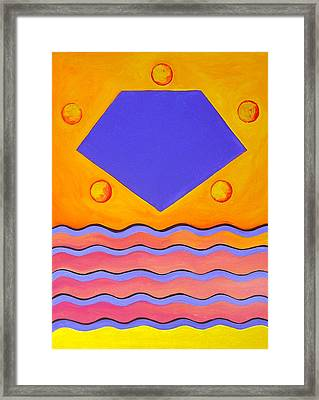 Color Geometry - Pentagon Framed Print