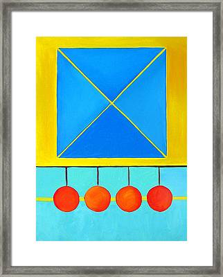 Color Geometry - Square Framed Print