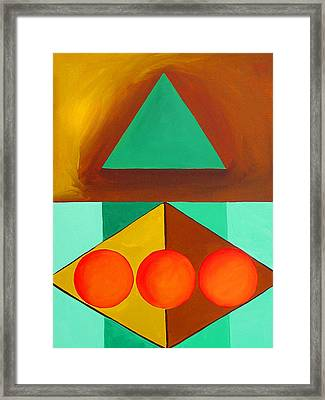 Color Geometry - Triangle Framed Print