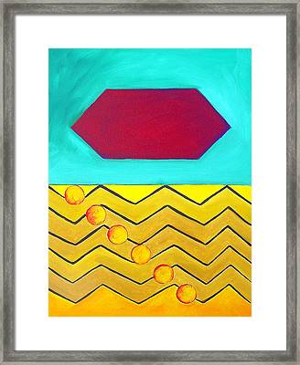 Color Geometry - Hexagon Framed Print