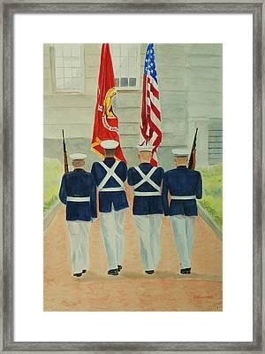 Color Guard Framed Print