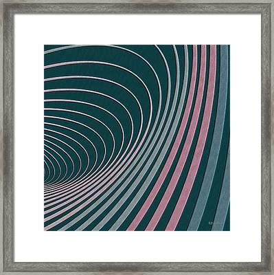 Color Harmonies - Flamingo Bay Framed Print