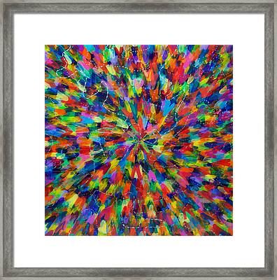 Color Implosion Framed Print by Patrick OLeary