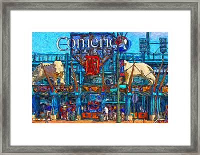 Color In Comerica Framed Print by John Farr