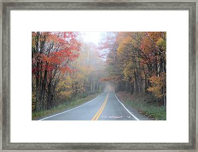Color In The Country Framed Print by Carolyn Postelwait